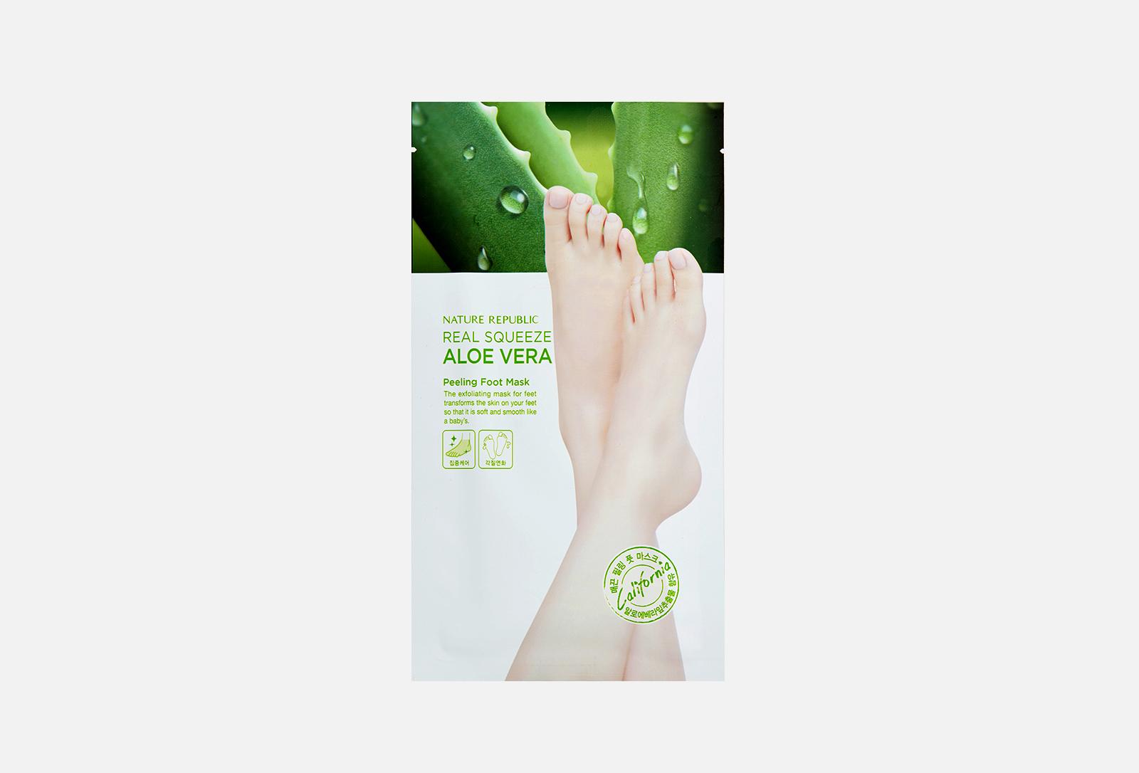 Real Squeeze Aloe Vera Peeling Foot Mask