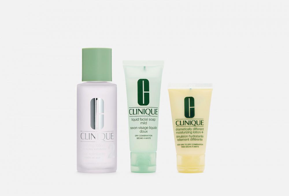 Набор средств по уходу за кожей, склонной к сухости CLINIQUE 3-step Set clinique для сухой и комбинированной кожи склонной к сухости