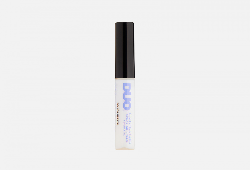Клей для накладных ресниц DUO Rosewater And Biotin Striplash Adhesive Clear 5 мл клей для накладных ресниц duo clear lash adhesive 7 мл