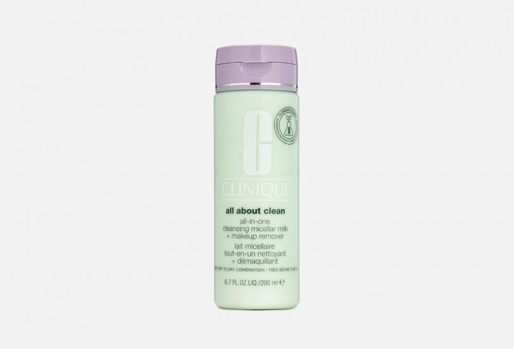 Молочко для снятия стойкого макияжа для кожи склонной к сухости CLINIQUE All-in-one Cleansing Micellar Milk + Mur St 1 & 2 200 мл