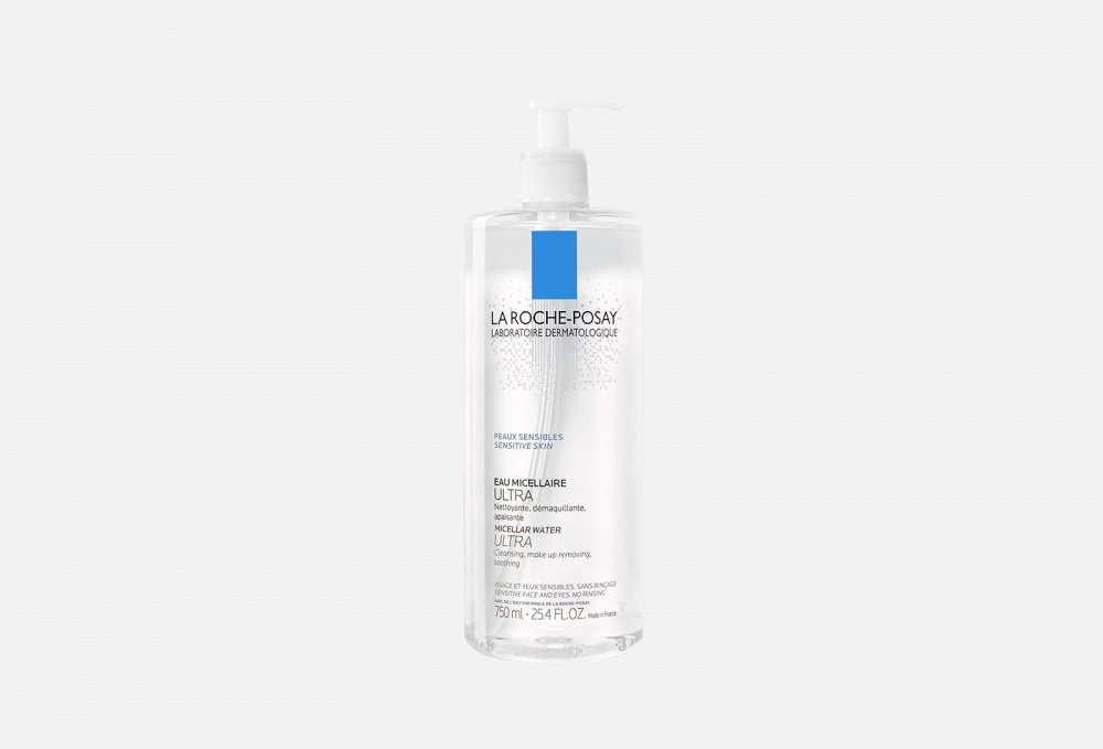 Мицеллярная вода для чувствительной кожи LA ROCHE-POSAY Micellar Water Ultra 750 мл la roche posay мицеллярная вода для чувствительной кожи лица и глаз ultra sensitive 400 мл