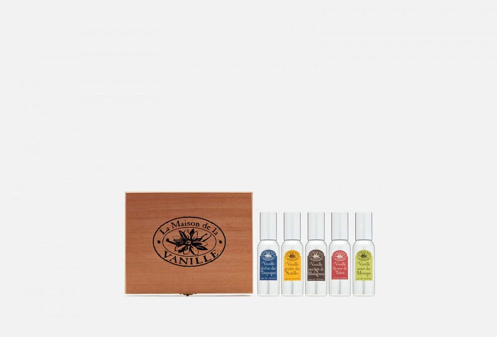 Подарочный набор 5х30мл LA MAISON DE VANILLE Coffret Contenant Gift Box