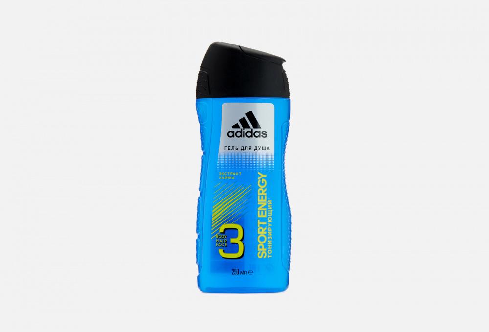 Гель для душа 3в1 тонизирующий ADIDAS Sport Energy 250 мл