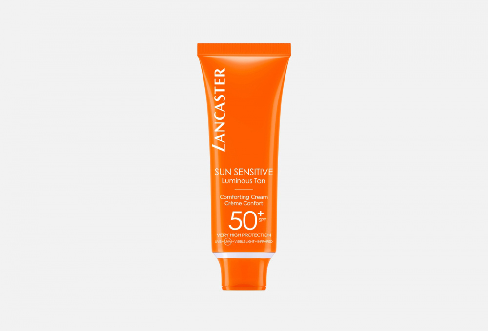 Лосьон для лица SPF50+ LANCASTER Sun Sensitive Delicate Comforting Cream 50 мл lancaster гель sun sport invisible face gel matte finish spf 30 50 мл