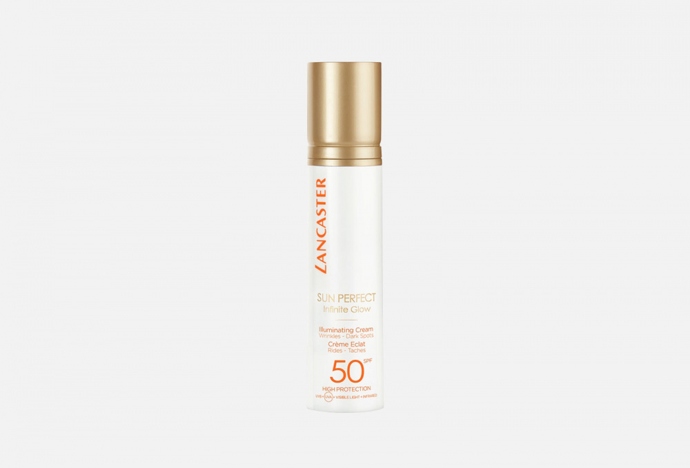 Солнцезащитный крем для лица SPF50 LANCASTER Sun Perfect Infinite Glow 50 мл