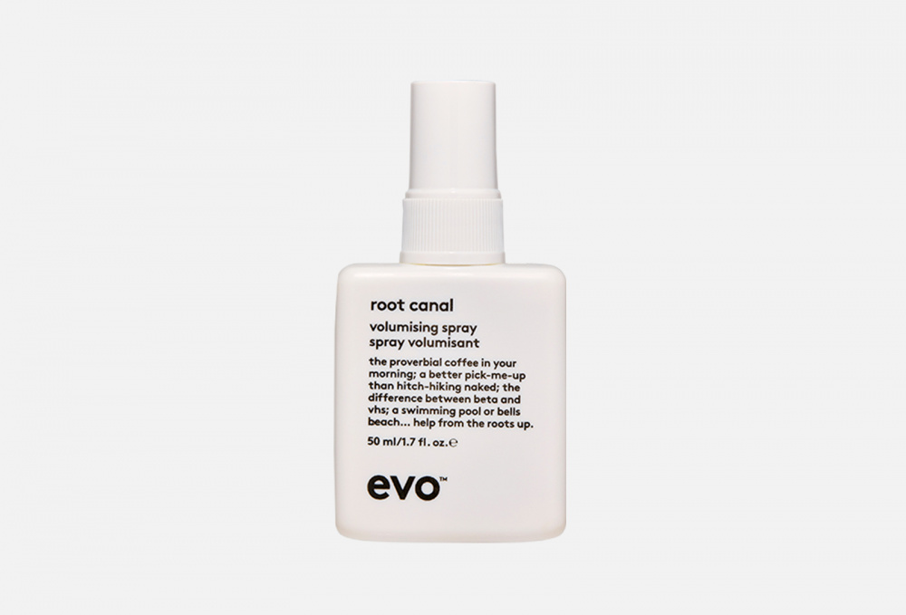 Фото - СПРЕЙ ДЛЯ ПРИКОРНЕВОГО ОБЪЕМА МИНИ-ФОРМАТ EVO Root Canal Volumising Spray 50 мл dewal cosmetics спрей для прикорневого объема movie style love barcelona 250 мл