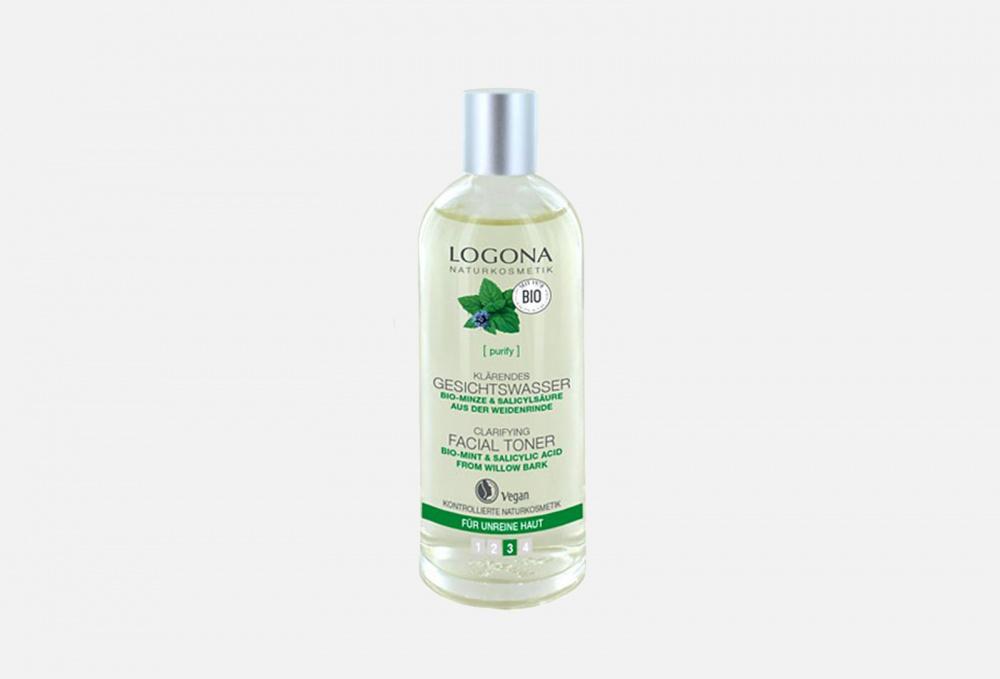 Купить Тоник для выравнивания кожи лица с Био-Мятой и Салициловой кислотой из Коры Ивы, LOGONA