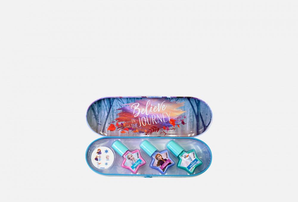 Фото - Игровой набор декоративной косметики для ногтей в пенале MARKWINS Frozen 1 мл набор детской декоративной косметики markwins pop в пенале 3800151