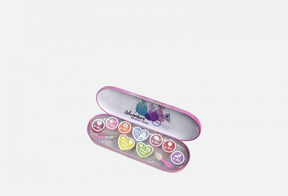Игровой набор декоративной косметики для лица в пенале маленький MARKWINS Princess 1 мл