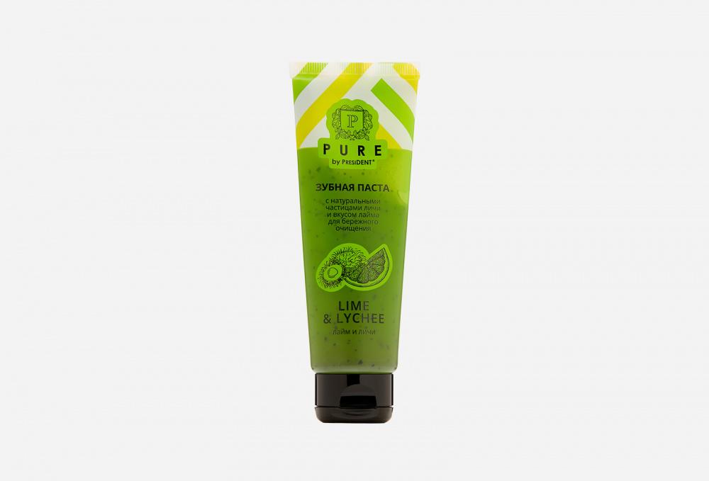 Зубная паста PRESIDENT Lime & Lychee 100 мл зубная паста president pure by лайм и личи 100g 70150