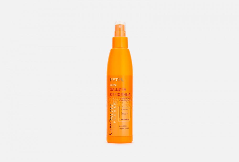 Фото - Спрей «Увлажнение. Защита от UV-лучей» для всех типов волос ESTEL Curex Sun Flower 200 мл estel professional curex sunflower спрей для волос увлажнение и защита от uv лучей 200 мл