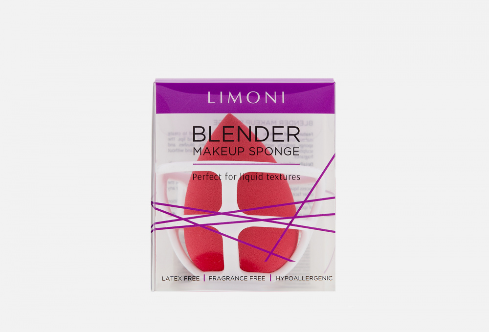 Спонж для макияжа в наборе с корзинкой LIMONI Blender Makeup Red Sponge 17 мл