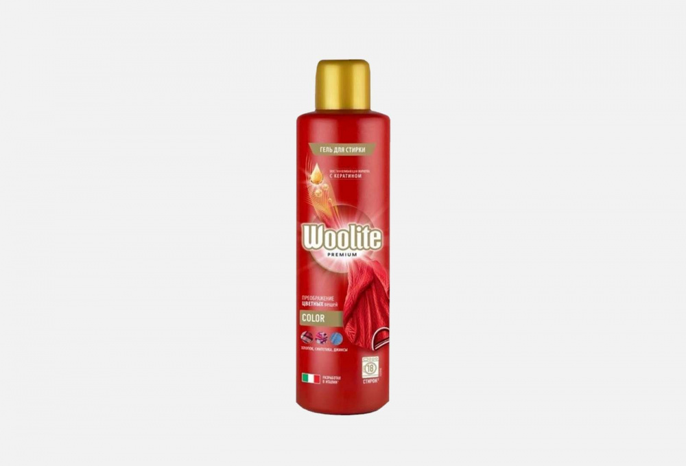 Фото - Гель для стирки цветного белья WOOLITE Premium Color 900 мл гель для стирки woolite premium pro care 900 мл