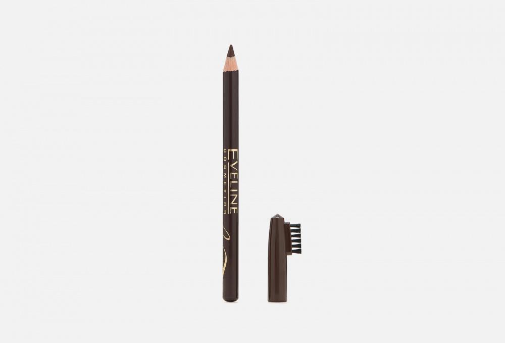 Купить Контурный карандаш для бровей, EVELINE, Коричневый