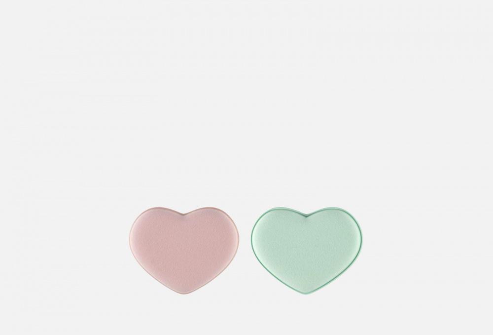 Купить Спонжи для тональной основы сердца 2 шт, QVS