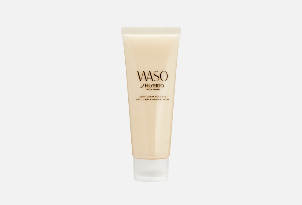 Мягкий эксфолиант для улучшения текстуры кожи SHISEIDO Waso Soft+cushy Polisher 75 мл shiseido waso mega hydrating cream value set