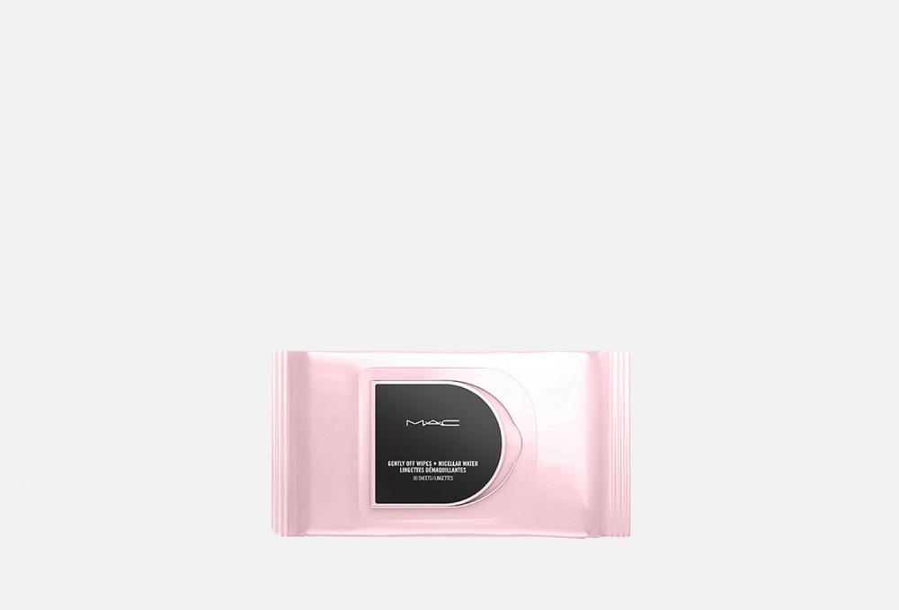 Салфетки мицеллярные для снятия макияжа MAC Gently Off Wipes + Micellar Water 80 мл