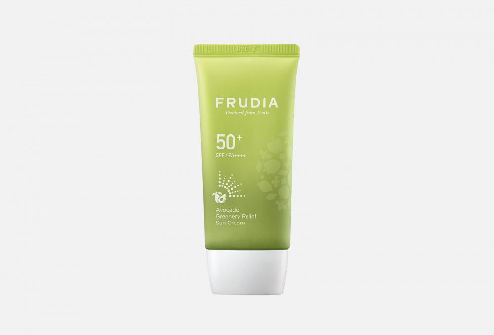 Солнезащитный восстанавливающий крем с авокадо SPF50 + PA ++++ FRUDIA Avocado Greenery Relief Sun Cream 50 мл