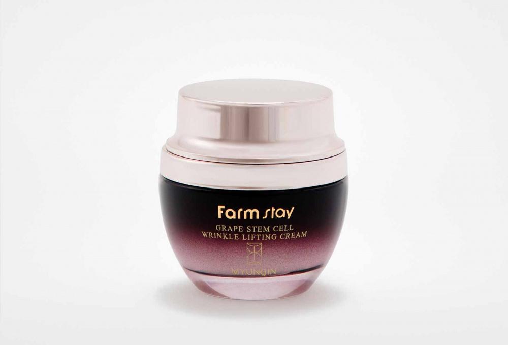 Крем лифтинг с фито-стволовыми клетками винограда FARM STAY Grape Stem Cell Wrinkle Lifting Cream 50 мл jigott крем для кожи вокруг глаз со стволовыми клетками daandanbit stem cell eye cream 50 мл