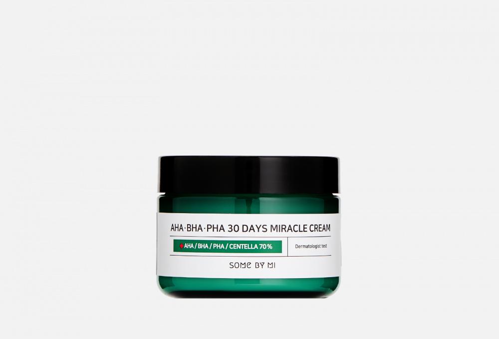 Крем с AHA/BHA/PHA кислотами для проблемной кожи SOME BY MI Aha-bha-pha 30 Days Miracle Cream 60 мл