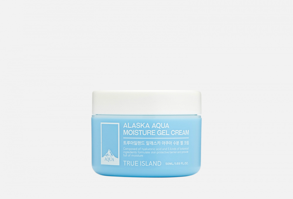 Увлажняющий гель-крем TRUE ISLAND Alaska Aqua Moisture Gel Cream 50 мл the true rich cream aqua hydrogel mask a m f set