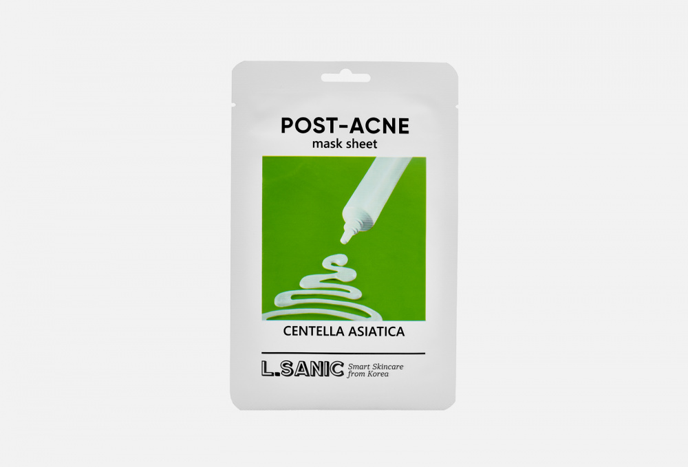 Маска тканевая с экстрактом центеллы L.SANIC Centella Asiatica Post-acne 1 мл l sanic маска centella asiatica post acne mask sheet тканевая с экстрактом центеллы азиатской против постакне 25 мл