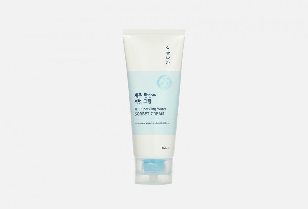 Охлаждающий крем-сорбет с термальной водой SHINGMULNARA Jeju Sprakling Water 100 мл крем для лица shingmulnara jeju sparkling water гидрирующий 100 мл