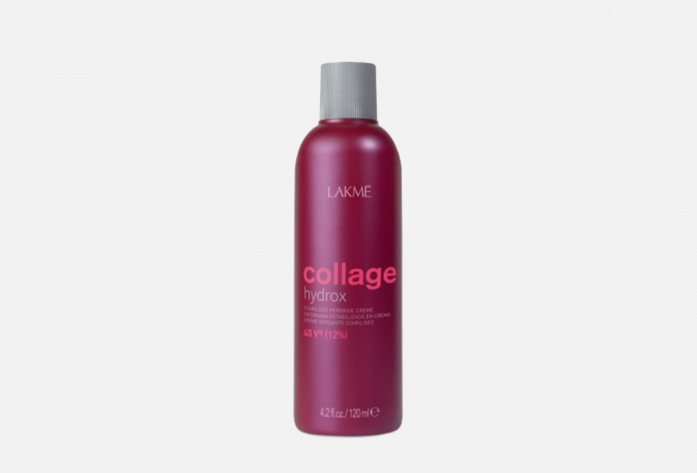 Фото - Крем-окислитель стабилизированный LAKME Collage Hydrox Stabilized Peroxide Crème 40vol (12%) 120 мл lakme collage hydrox крем окислитель 3% 1000 мл