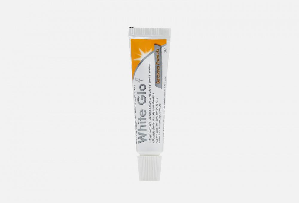 Фото - Экстрасильная отбеливающая зубная паста для курящих WHITE GLO Smokers Formula 24 мл зубная паста отбеливающая для курящих smokers 75мл