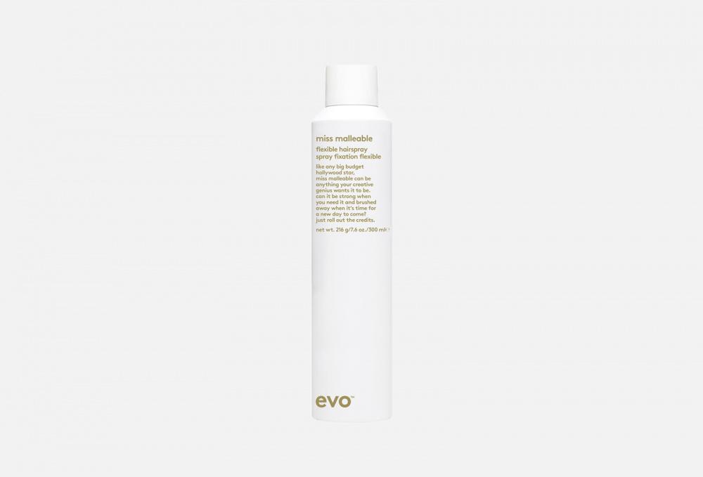 Лак подвижной фиксации EVO Miss Malleable Flexible Hairspray 300 мл healthy sexy hair soy touchable weightless hairspray лак подвижной фиксации 310 мл