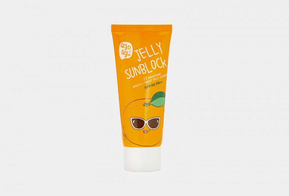 Мандариновый солнцезащитный крем-гель для лица и шеи SPF40 PA++ QYOQYO Tangerine Bright + Moist Jelly Sunblock 50 мл
