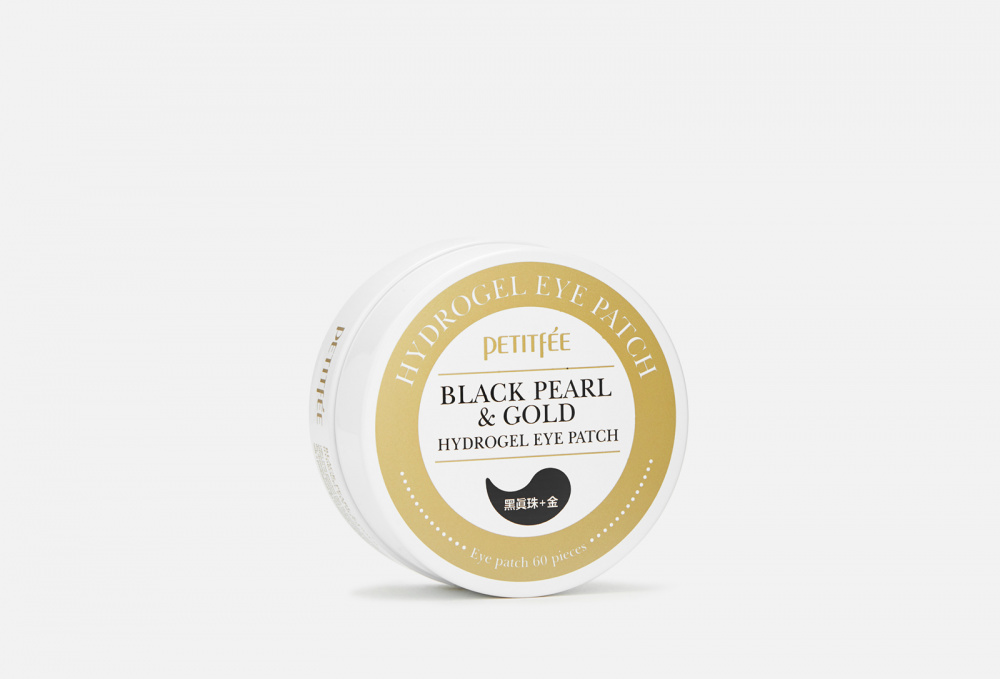 Патчи для глаз гидрогелевые PETITFEE Black Pearl & Gold Hydrogel Eye Patch