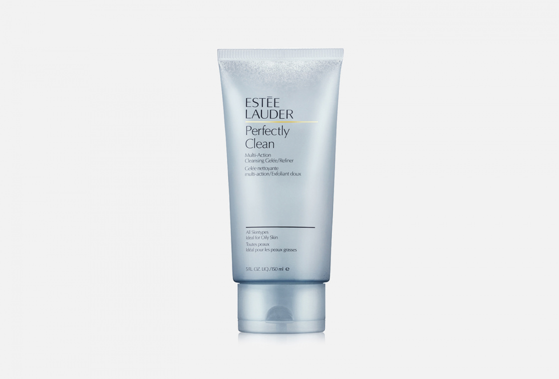 2 в 1: желе для умывания + скраб Estée Lauder Perfectly Clean Multi-Action Cleansing Gelee + Refiner
