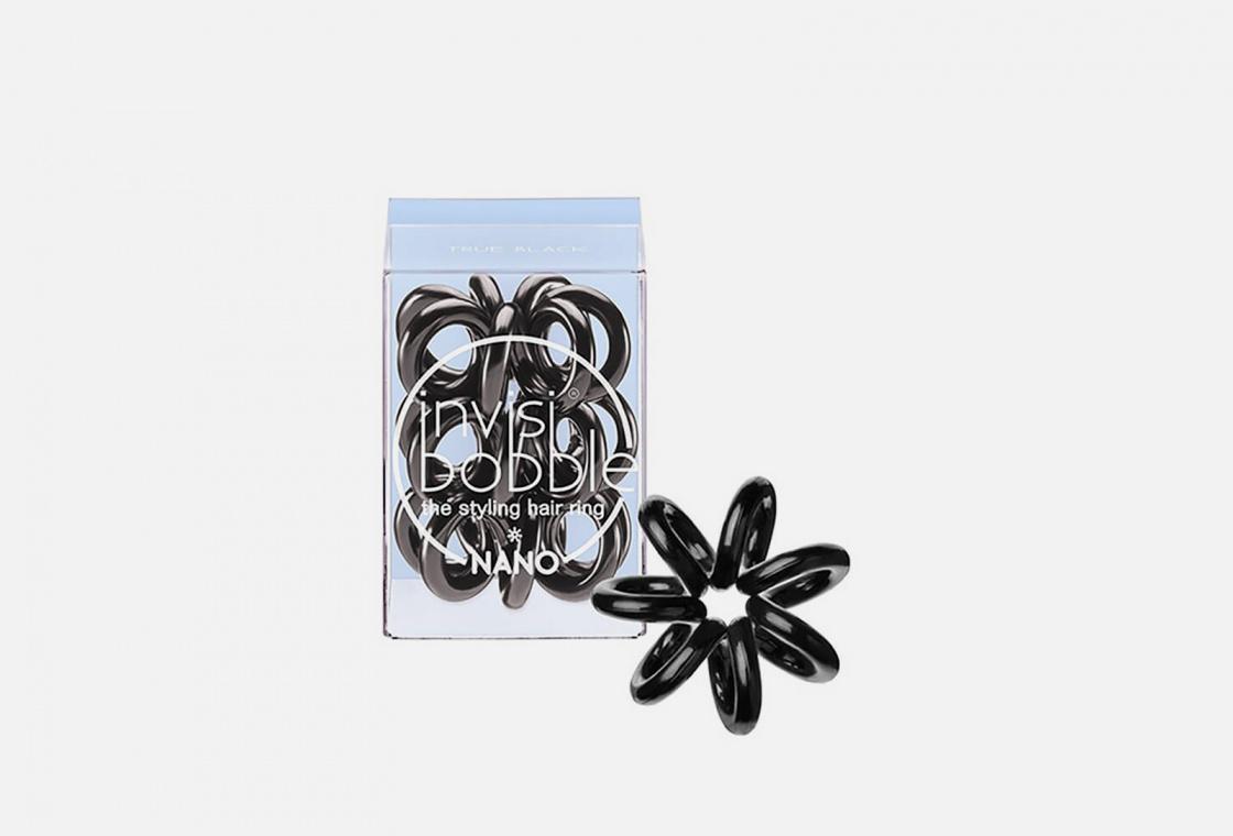 NANO Резинка-браслет для волос 3 штуки  Invisibobble True Black