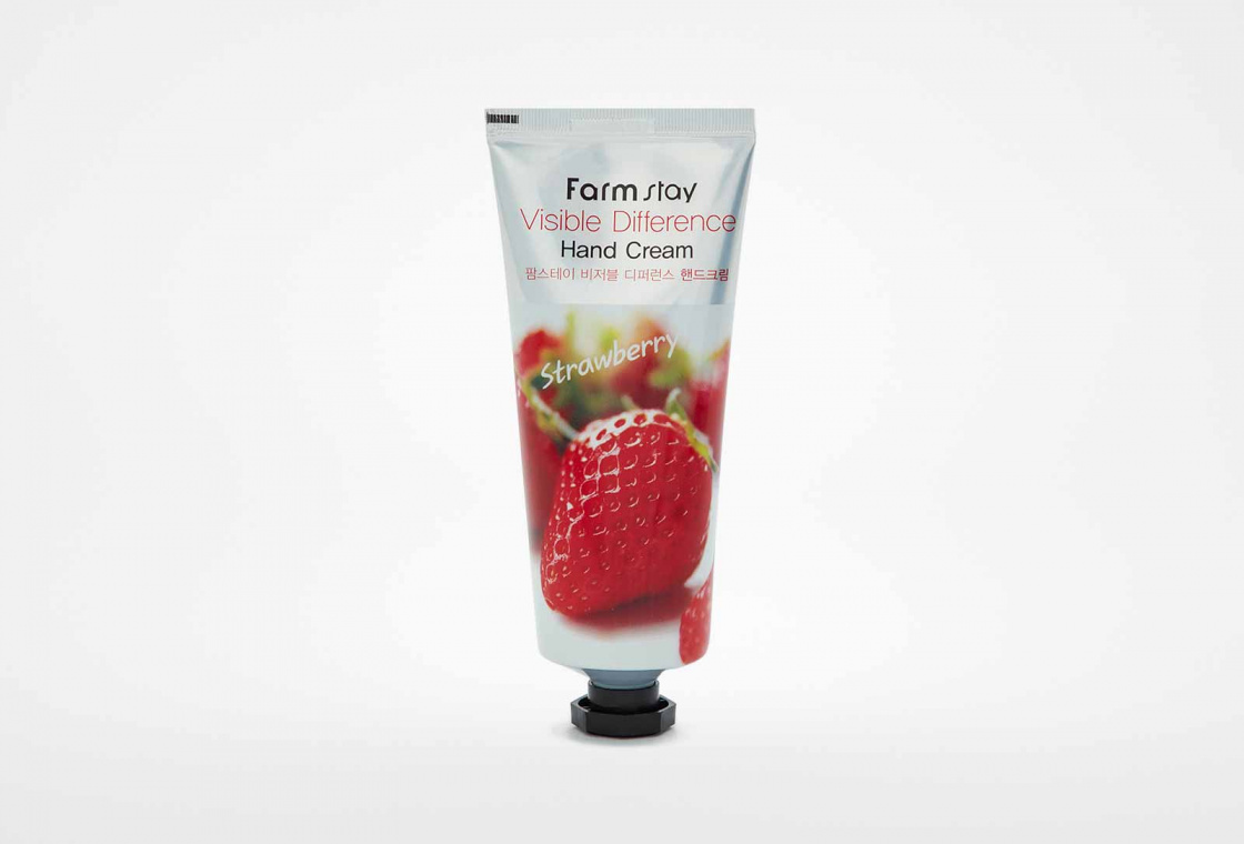 Крем для рук с экстрактом клубники  Farm Stay Visible Difference Hand Cream Strawberry