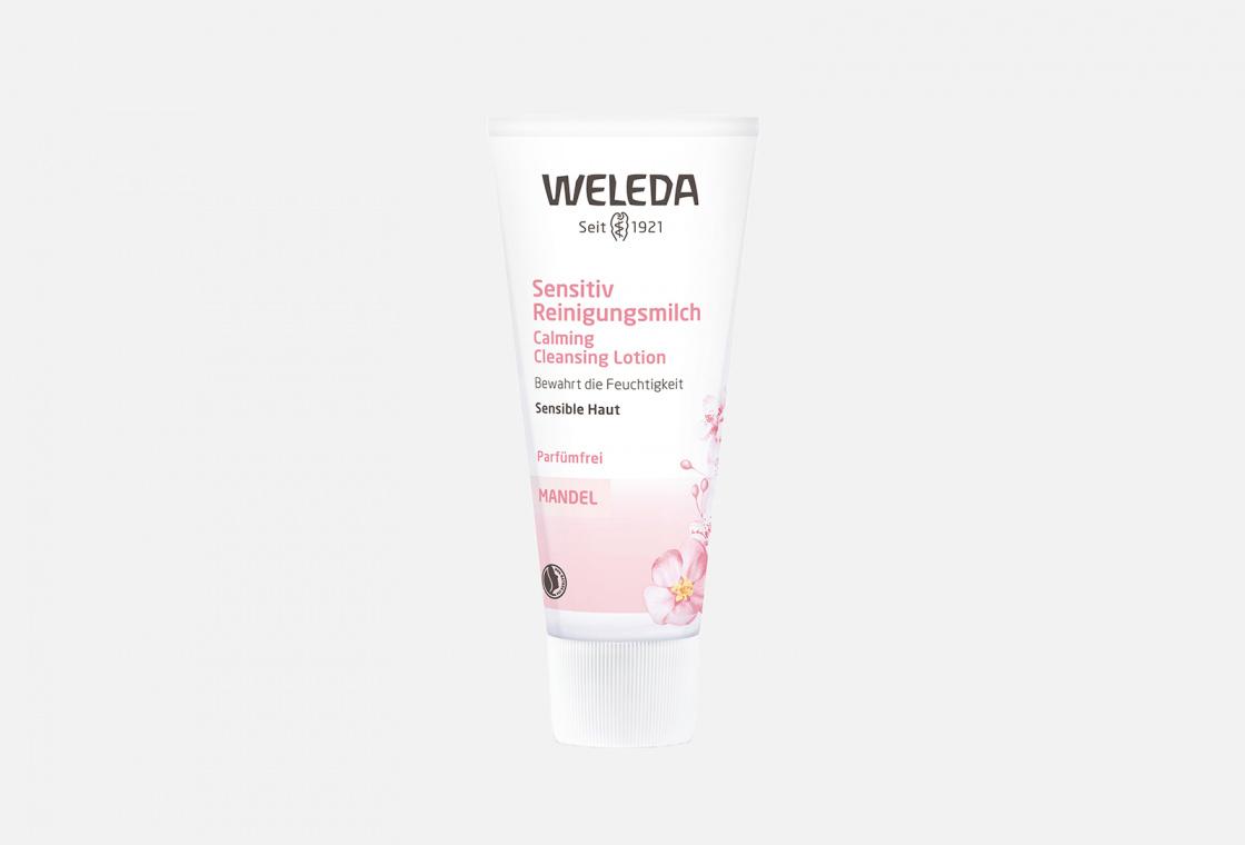 Молочко для лица деликатное очищающее Weleda Almond Soothing Cleansing Lotion