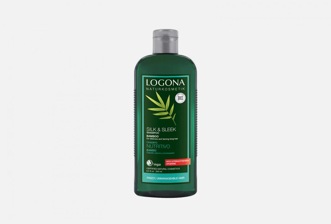 Шампунь с Экстрактом Бамбука для ослабленных волос LOGONA Silk & Sleek Shaampoo