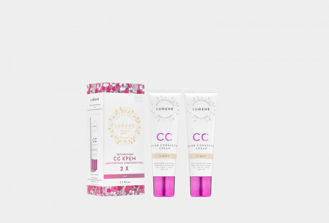 Набор для макияжа лица LUMENE CC Cream set x2