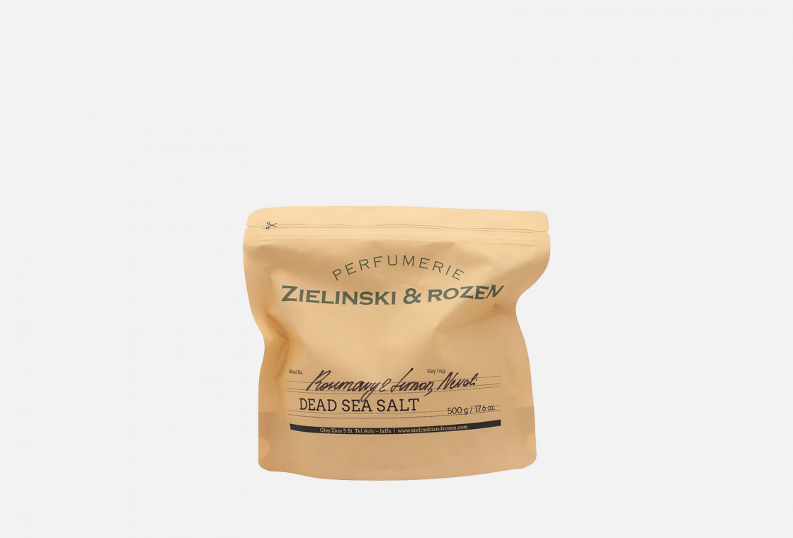 Соль мертвого моря  Zielinski & Rozen  Rosemary & Lemon, Neroli