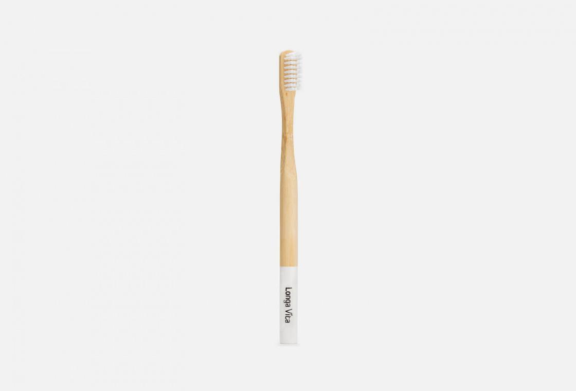 Зубная щетка средней жесткости в ассортименте Longa Vita Bamboo
