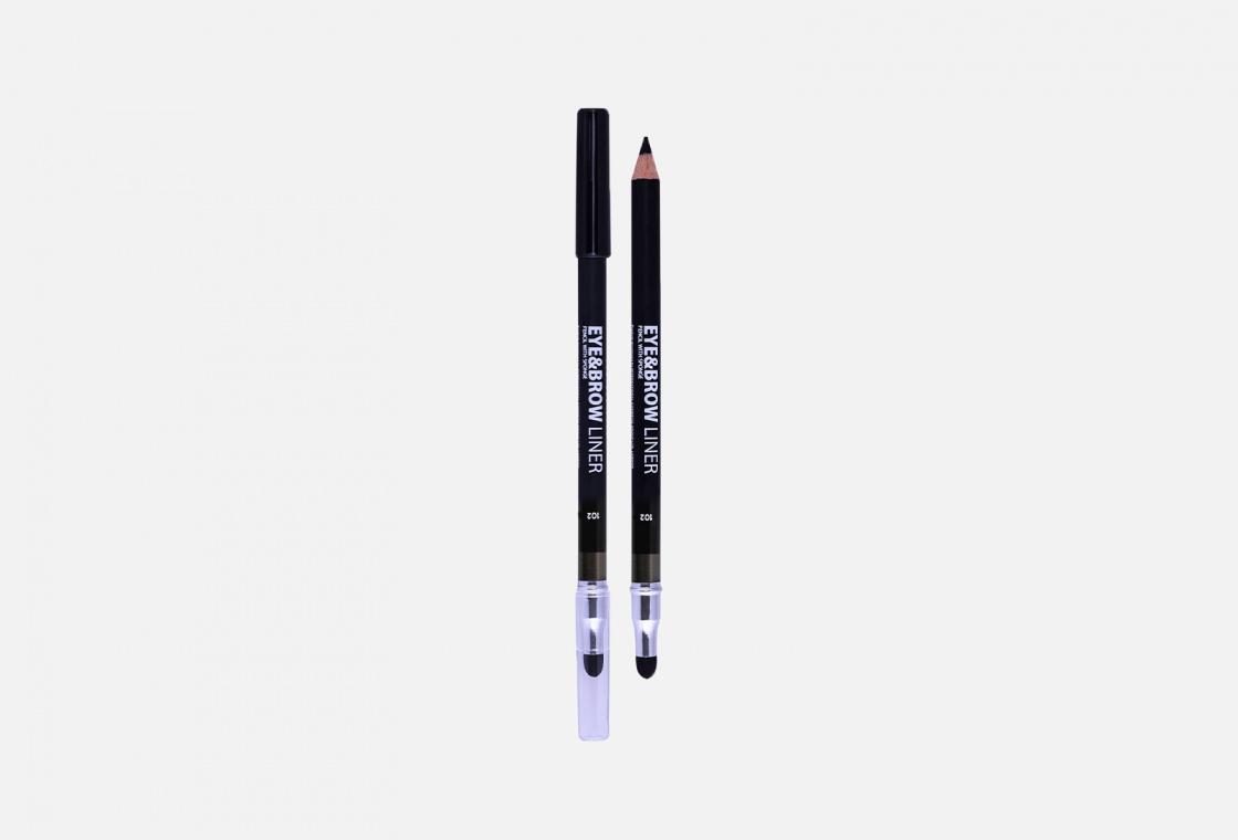 Карандаш для глаз с растушёвкой  Lamel Eye pencil with sponge