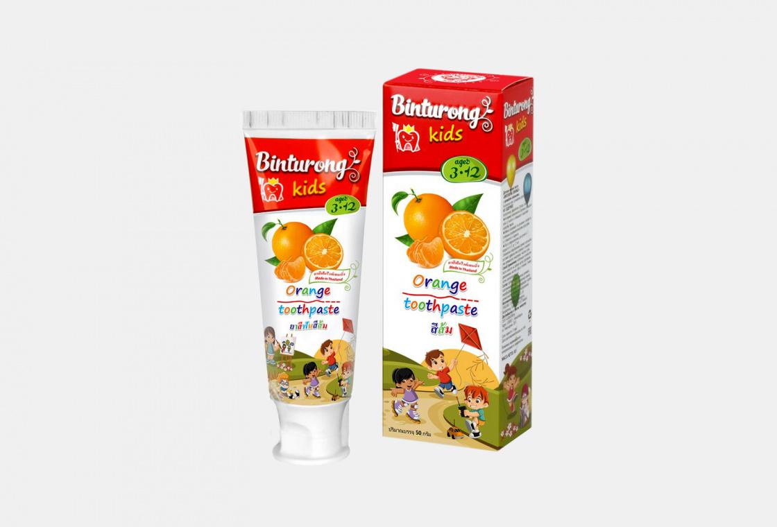 Детская зубная паста с ароматом апельсина Binturong With orange flavor
