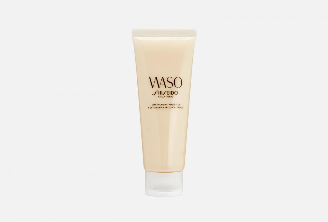 Мягкий эксфолиант для улучшения текстуры кожи Shiseido Waso Soft+Cushy Polisher
