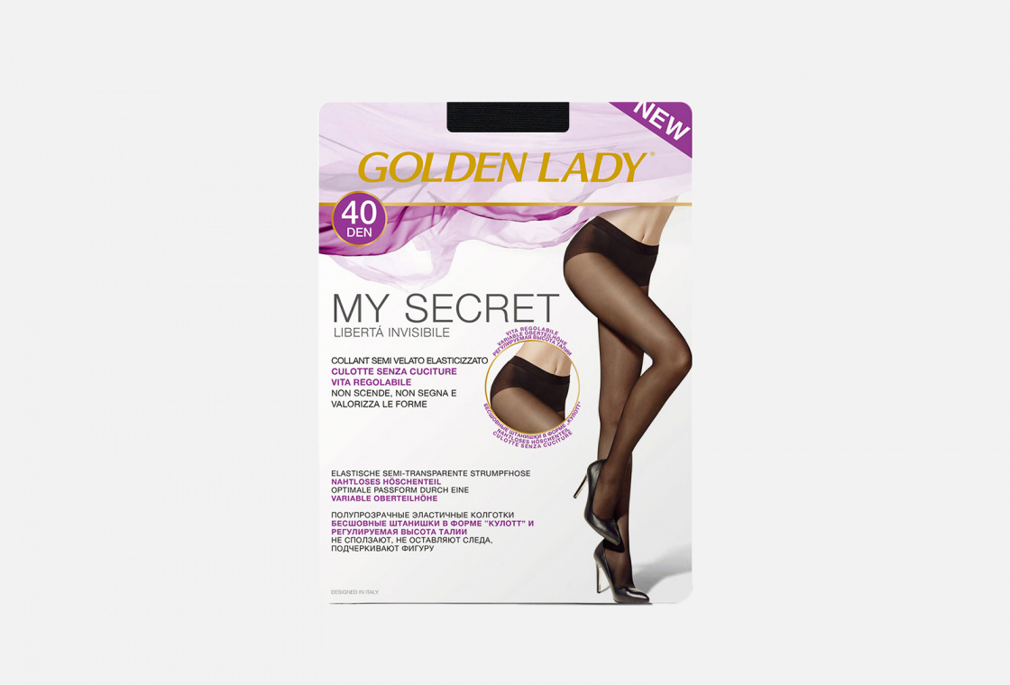 колготки 40 den Golden Lady My Secret Nero