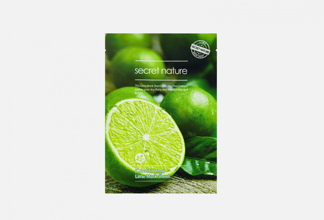 Маска для лица бодрящая SECRET NATURE Conditioning Lime Mask Sheet