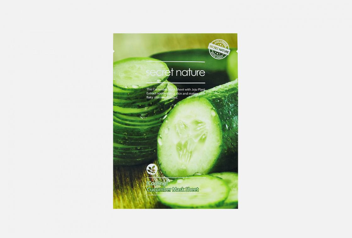 Маска для лица освежающая  SECRET NATURE Cooling Cucumber Mask Sheet