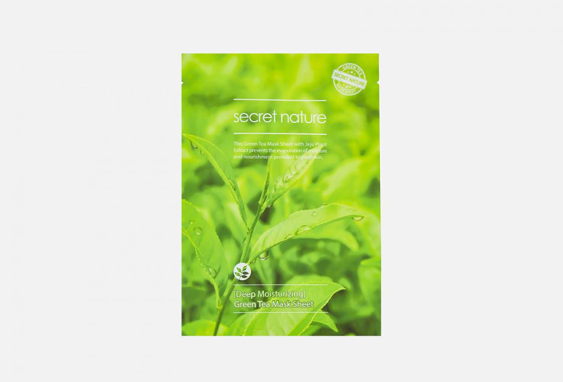 Маска для лица супер увлажняющая SECRET NATURE Deep Moisturizing Green Tea Mask Sheet