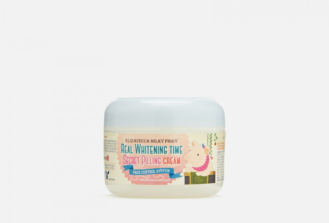Пилинг-крем для лица осветляющий Elizavecca Milky Piggy Real Whitening Time Secret Pilling Cream