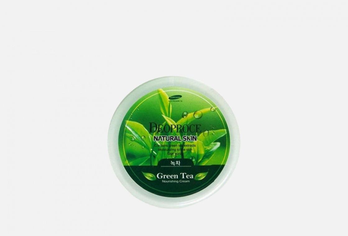 Крем для лица и тела Deoproce Natural Skin Greentea Nourishing Cream