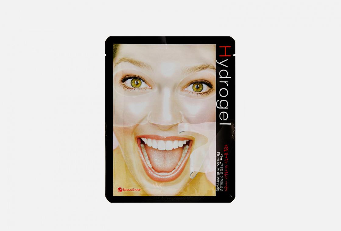 Гидрогелевая маска для лица  BeauuGreen Антивозрастная